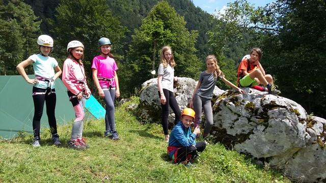 Koćanci na mladinskem planinskem taboru