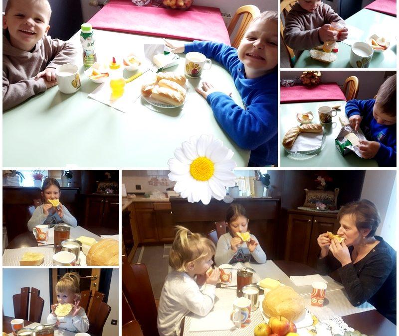 Tradicionalni slovenski zajtrk so si vrtčevski otroci pripravili tudi doma
