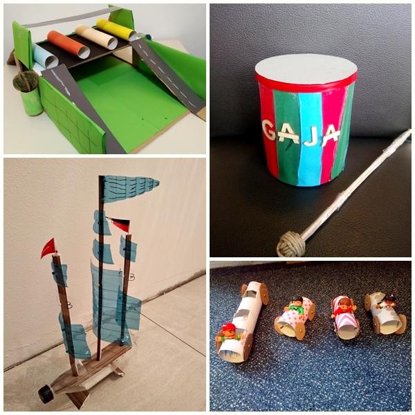 Otroci so iz odpadnega materiala izdelali novo igračo